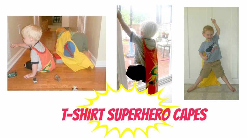 capecollage1 1024x575 No Sew Superhero Capes