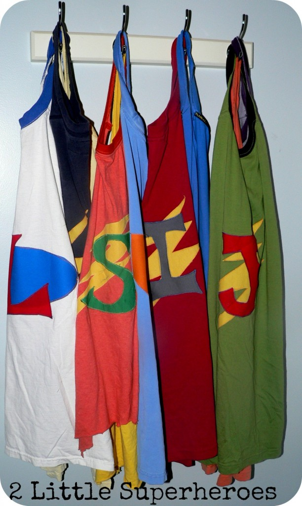 finished capes 612x1024 No Sew Superhero Capes