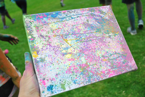 Rad Canvas After 2 Color Me Rad 5K, Cool Ideas For The Messiest Race Going