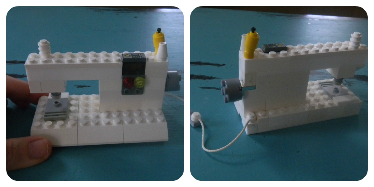 legosewinmachinecollage LEGO Sewing Machine