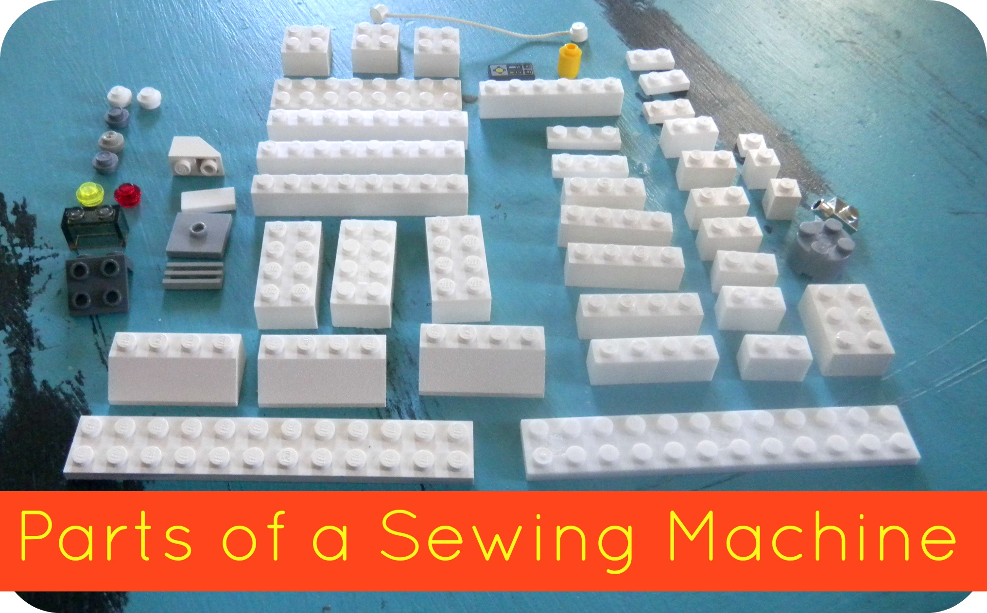partsofasewingmachine LEGO Sewing Machine