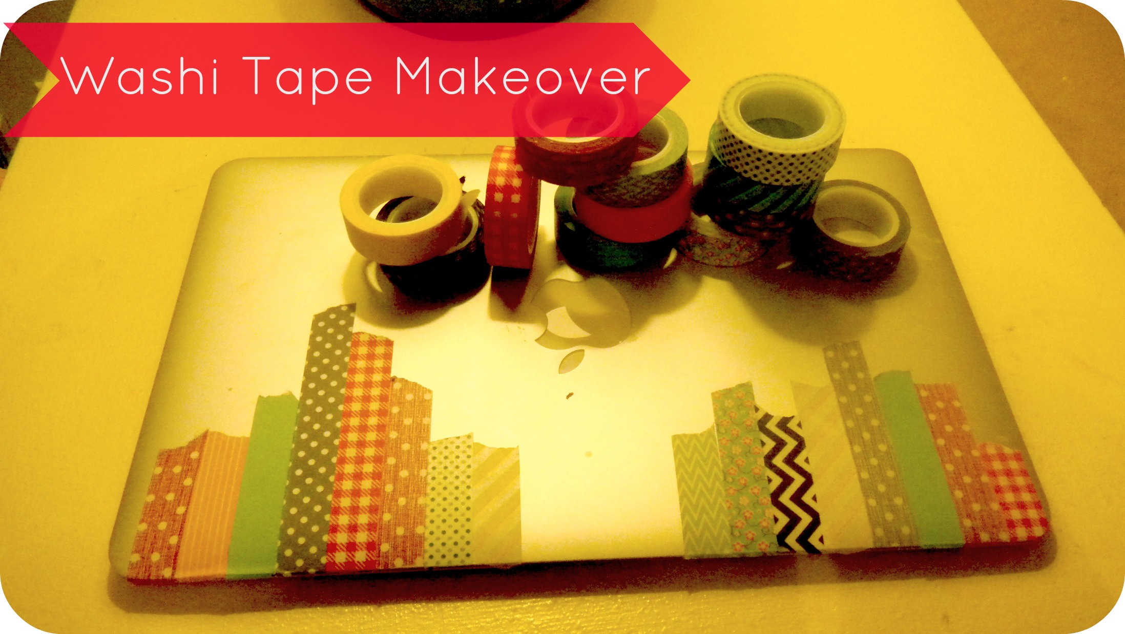 washitapemakeover Washi Tape Laptop Makeover