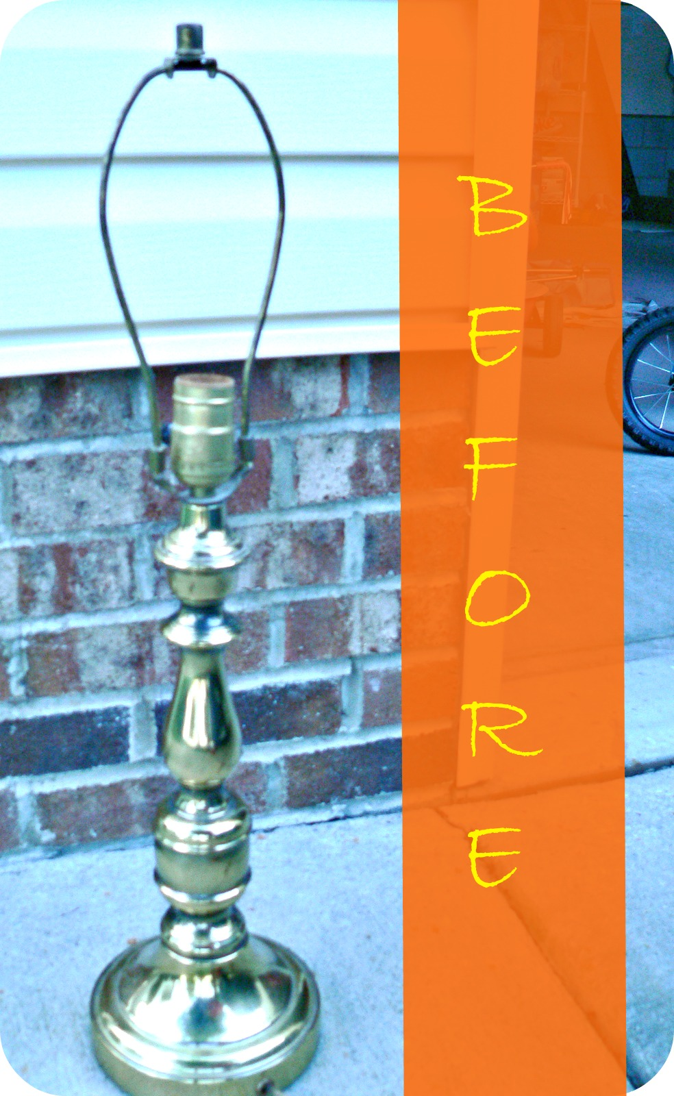 BEFORELAMP Lamp & Ugly Painting Makeover