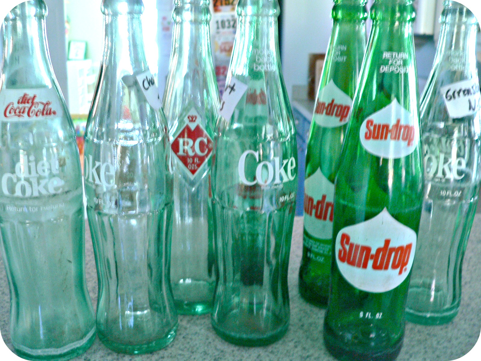 Old soda bottles the vintage bottles that
