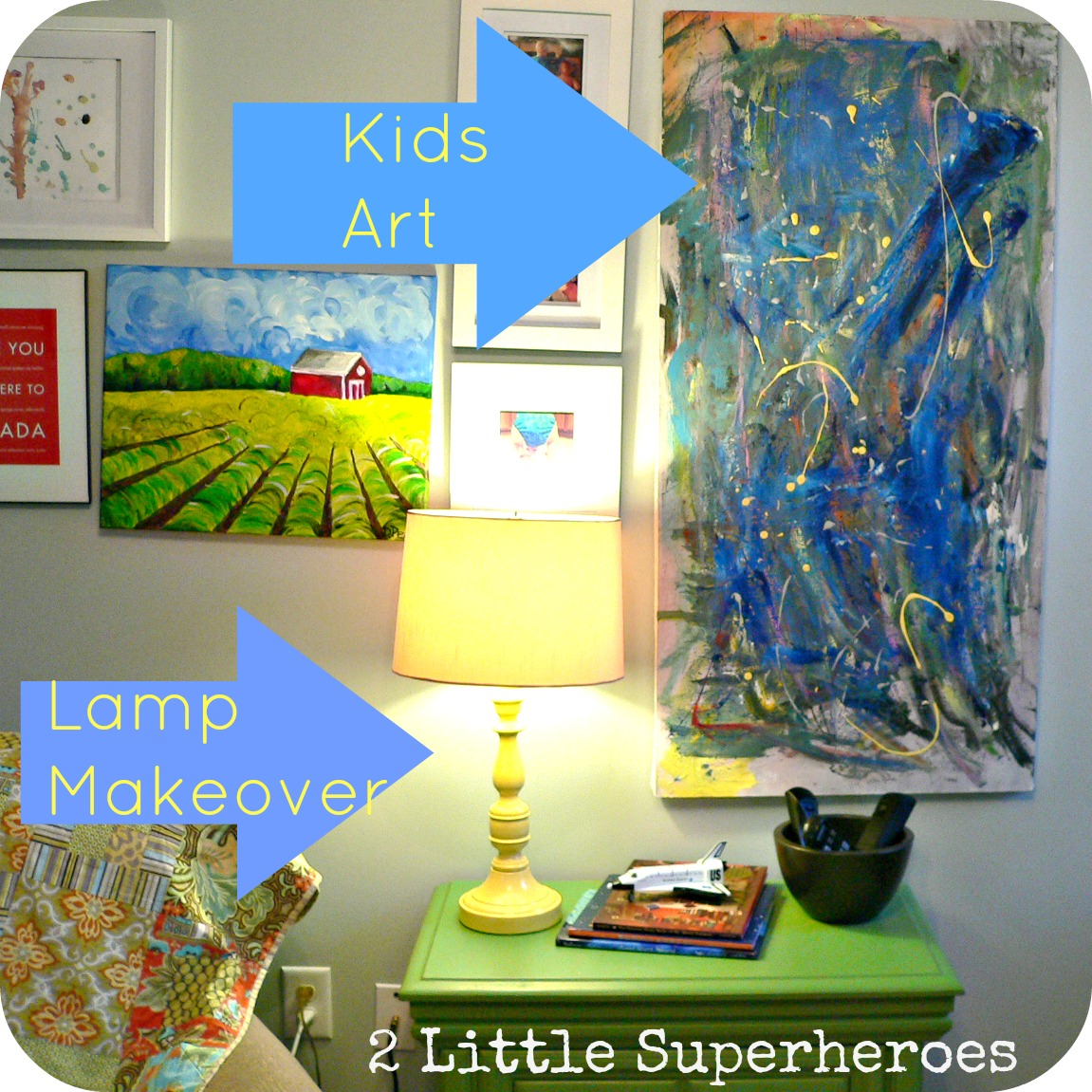 combo Lamp & Ugly Painting Makeover