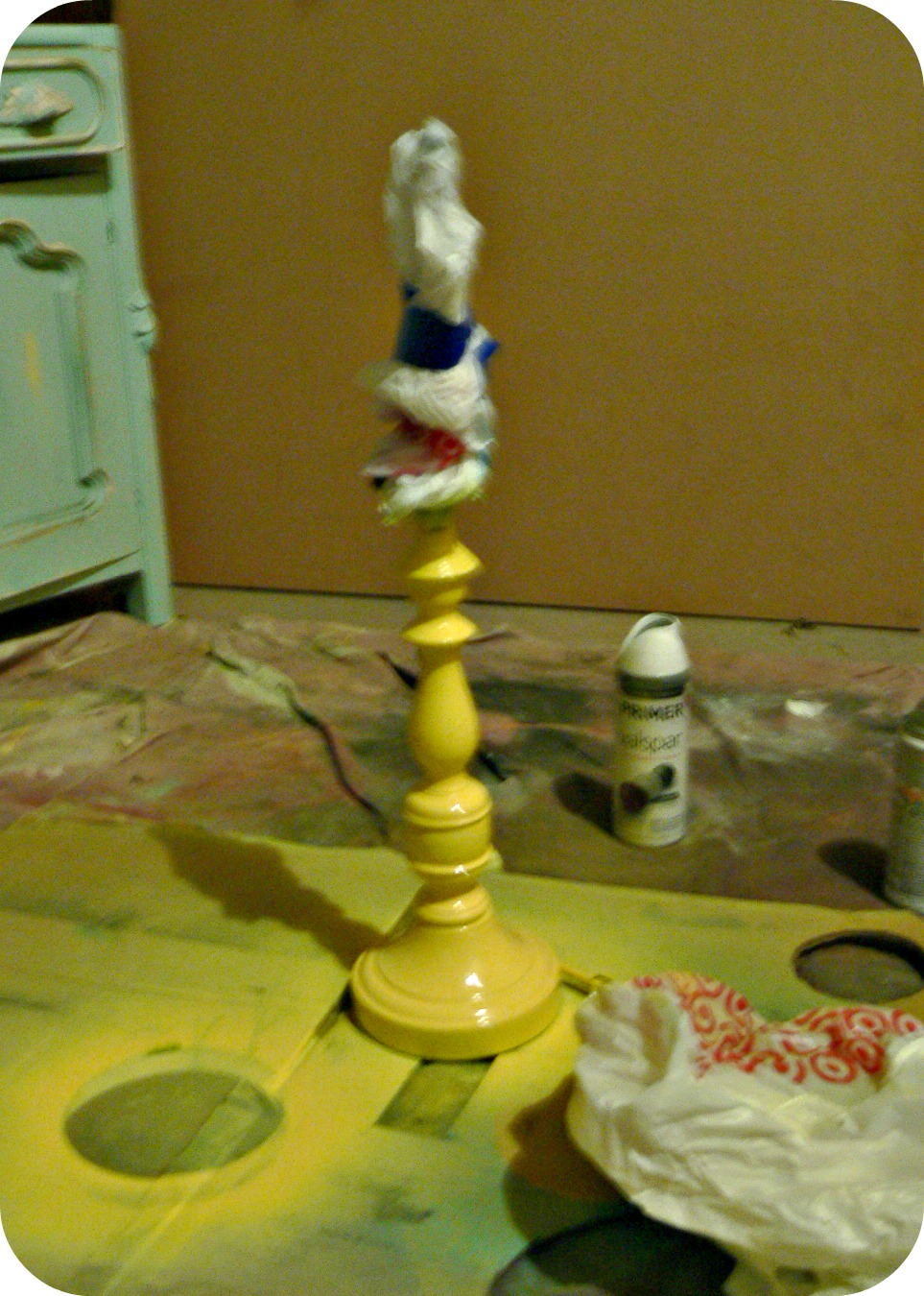 lamp primer Lamp & Ugly Painting Makeover