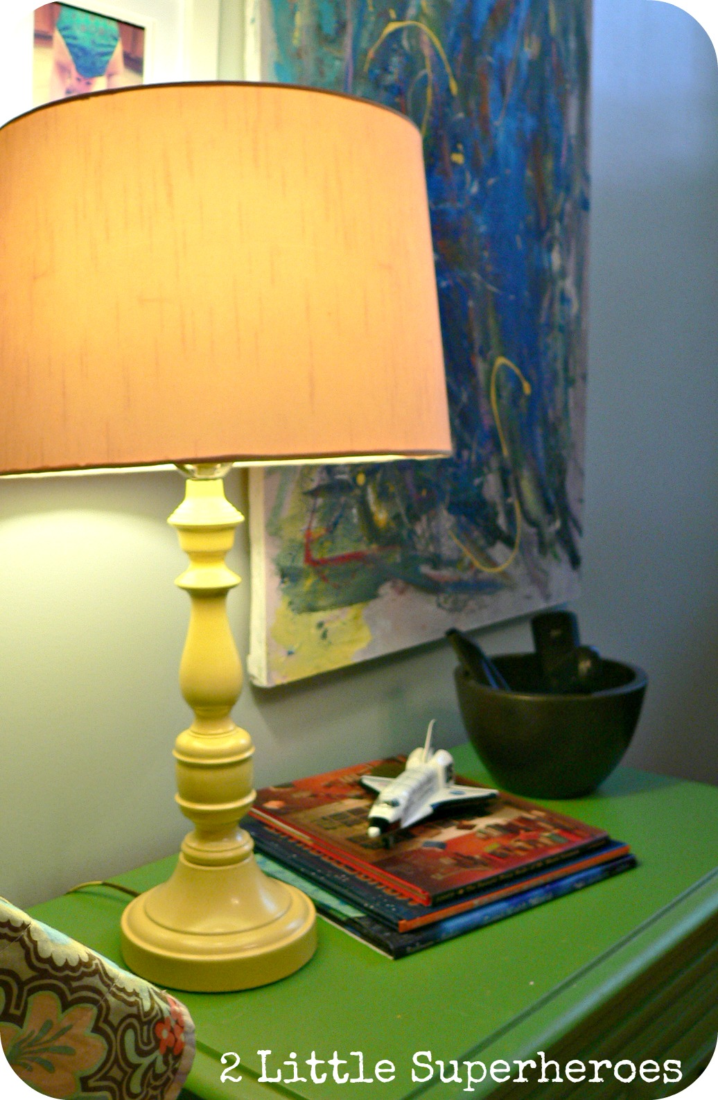 lamp Lamp & Ugly Painting Makeover