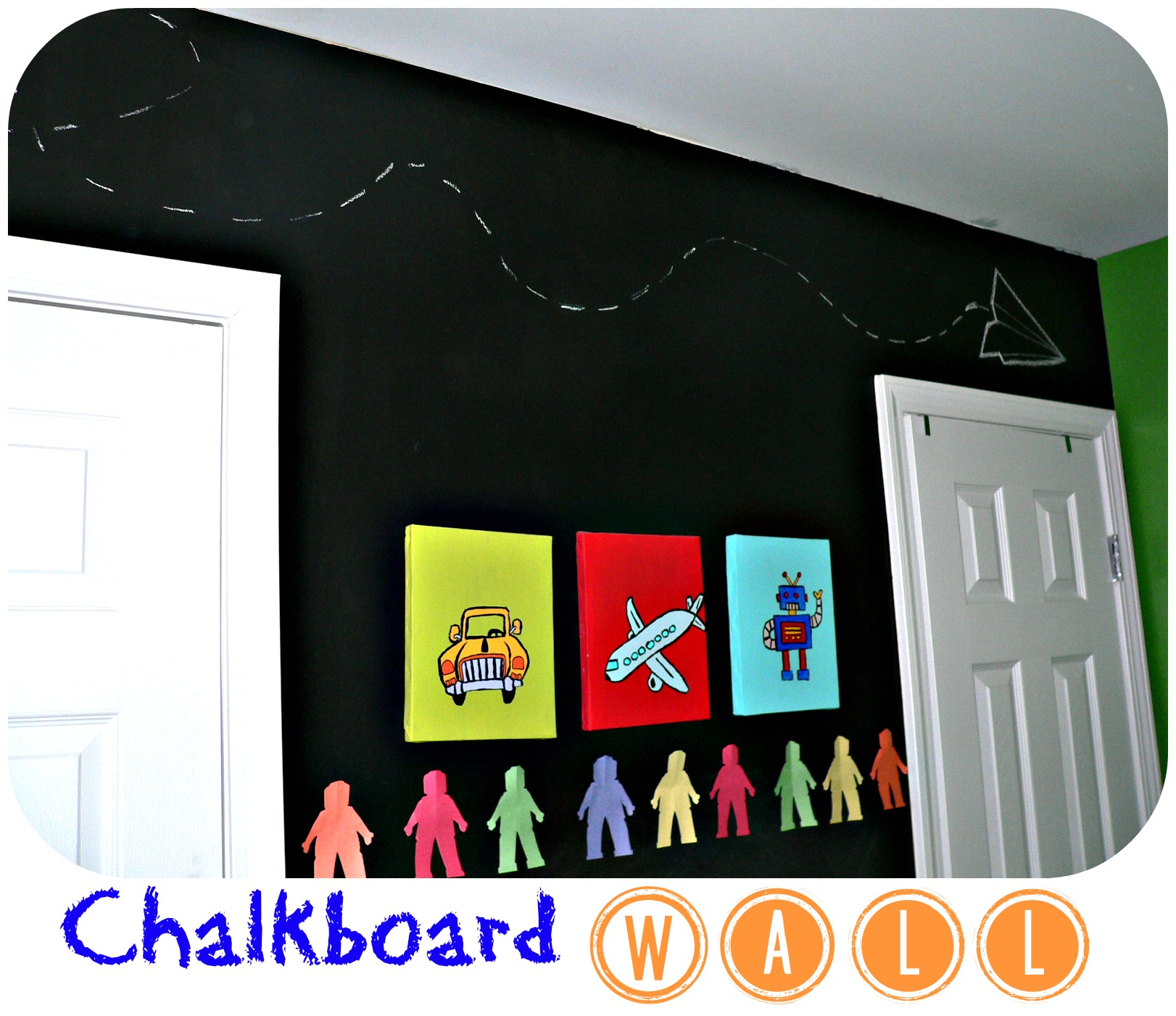 Bedroom Chalkboard Wall | 2 Little Supeheroes2 Little Supeheroes