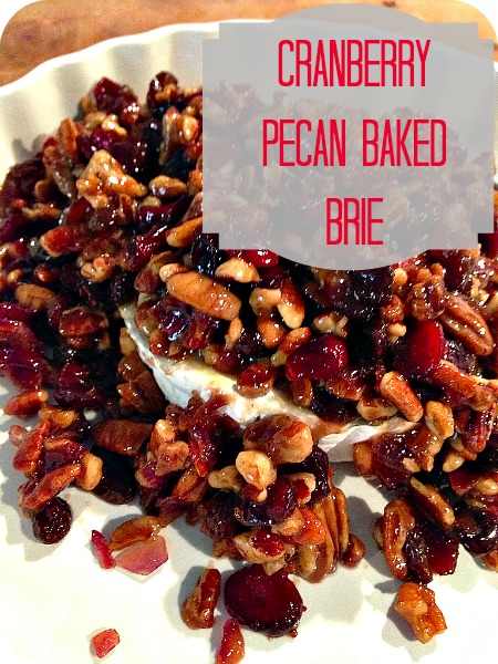 brie2 Cranberry Pecan Baked Brie