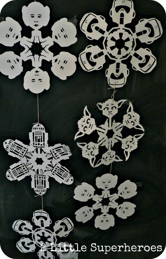 topsnowflake 658x1024 May the Christmas Force Be With You: Star Wars Snowflakes