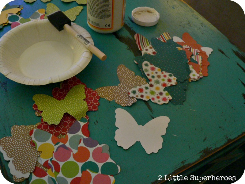 buttflygarlandglue Butterfly Garland using my Silhouette Cameo