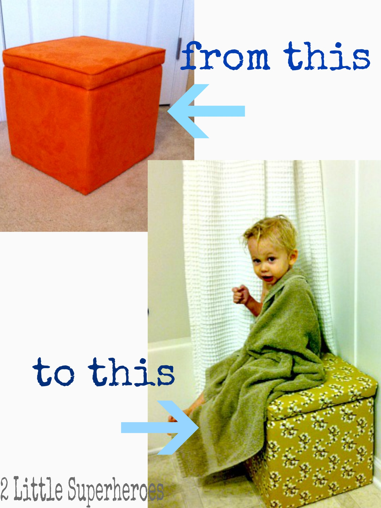 fromthistothis Kids Bathtime Bench & Toy Storage
