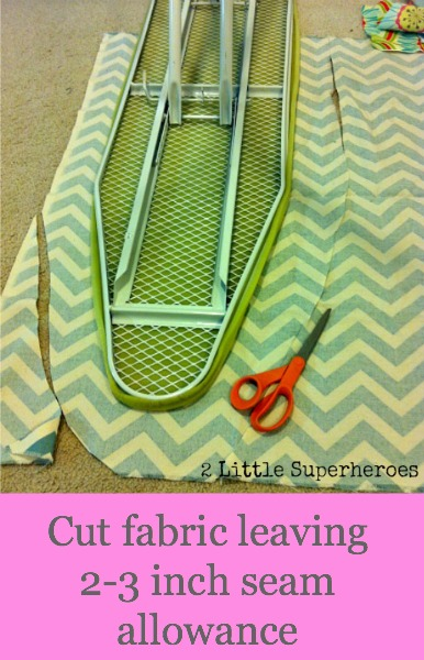 ironingboardcut DIY Ironing Board Cover