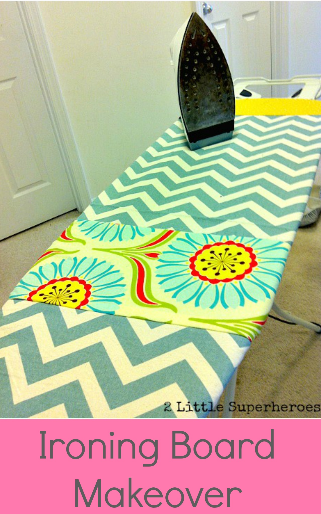 diy ironing board cover 2 little supeheroes2 little. Black Bedroom Furniture Sets. Home Design Ideas