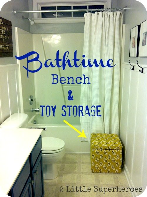 laststoragecube Kids Bathtime Bench & Toy Storage