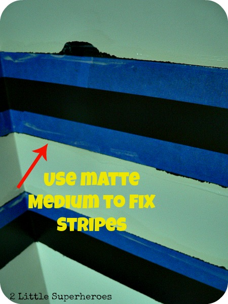 mattemedium How to Paint a Striped Wall & How to Fix Bleed Through