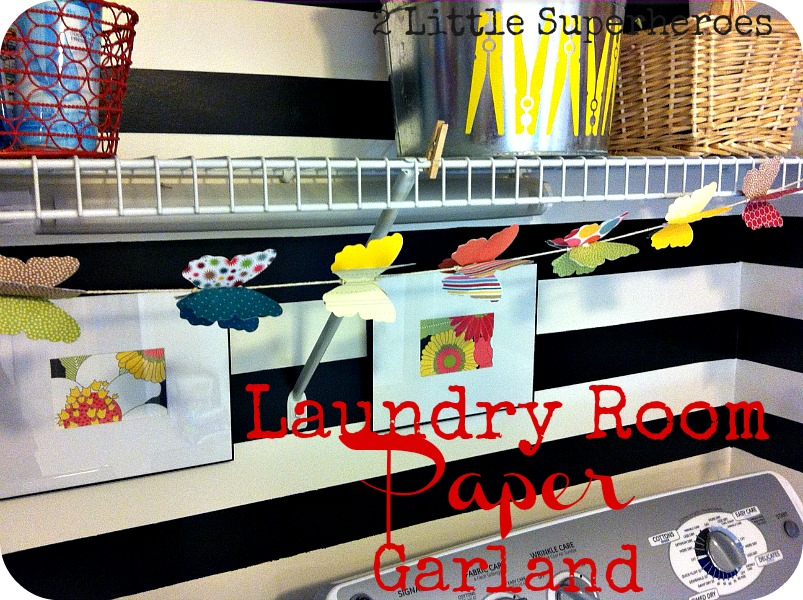 papergarland My Completely Free Laundry Room Makeover
