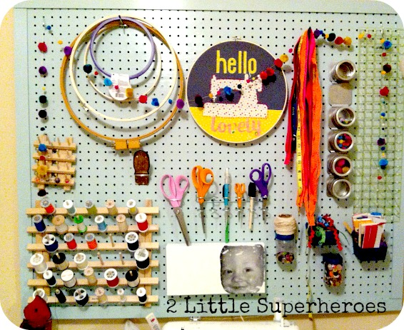 pegboard I {heart} Sewing