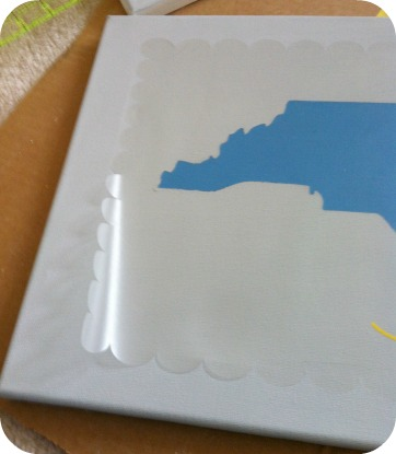 scallopborderstencil DIY North Carolina Art