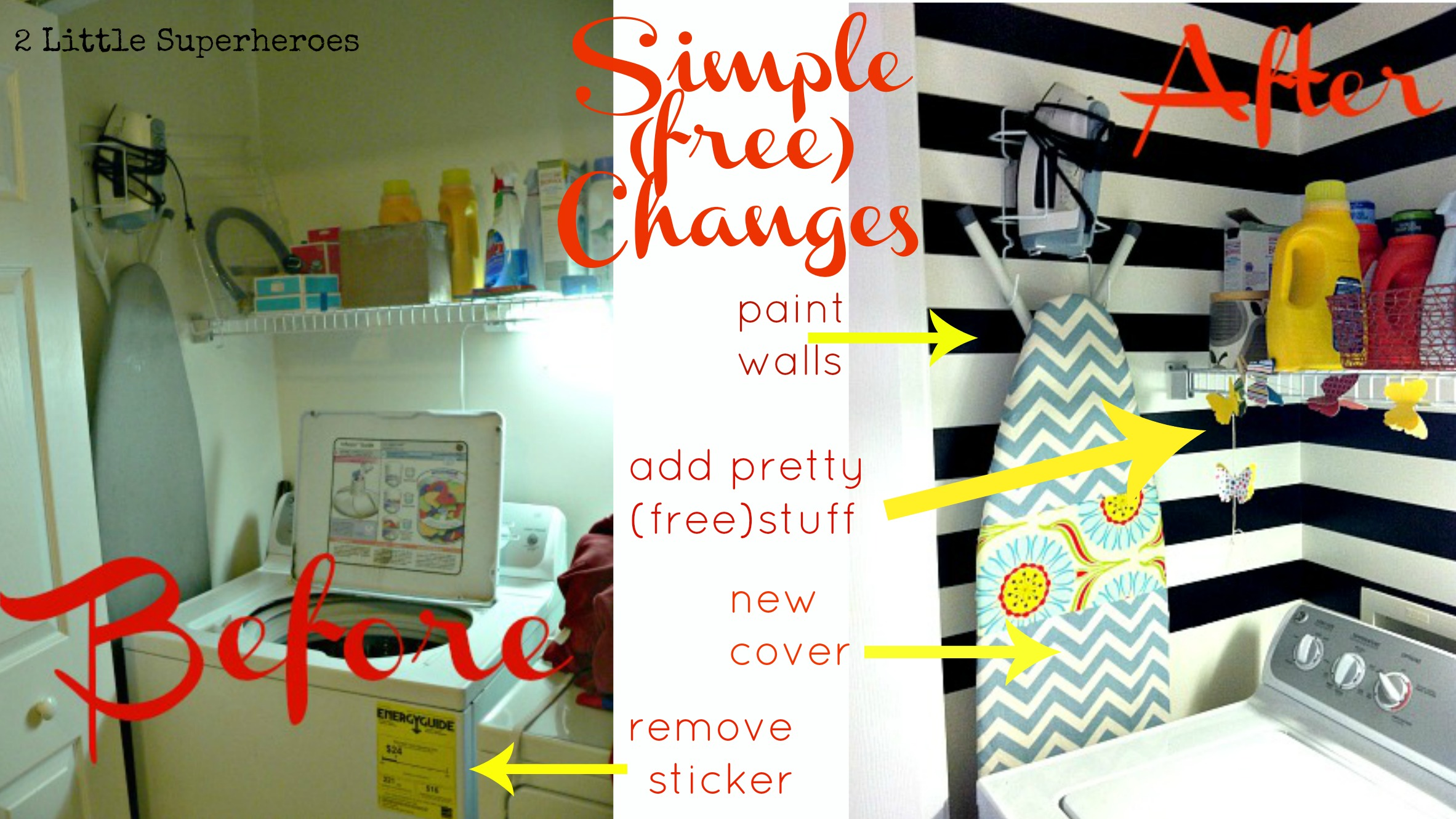 simplefreechanges My Completely Free Laundry Room Makeover