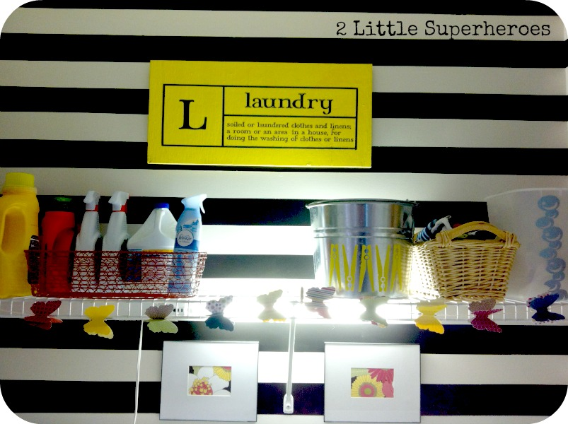 stripes My Completely Free Laundry Room Makeover