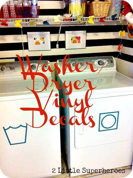 washerdecal My Completely Free Laundry Room Makeover