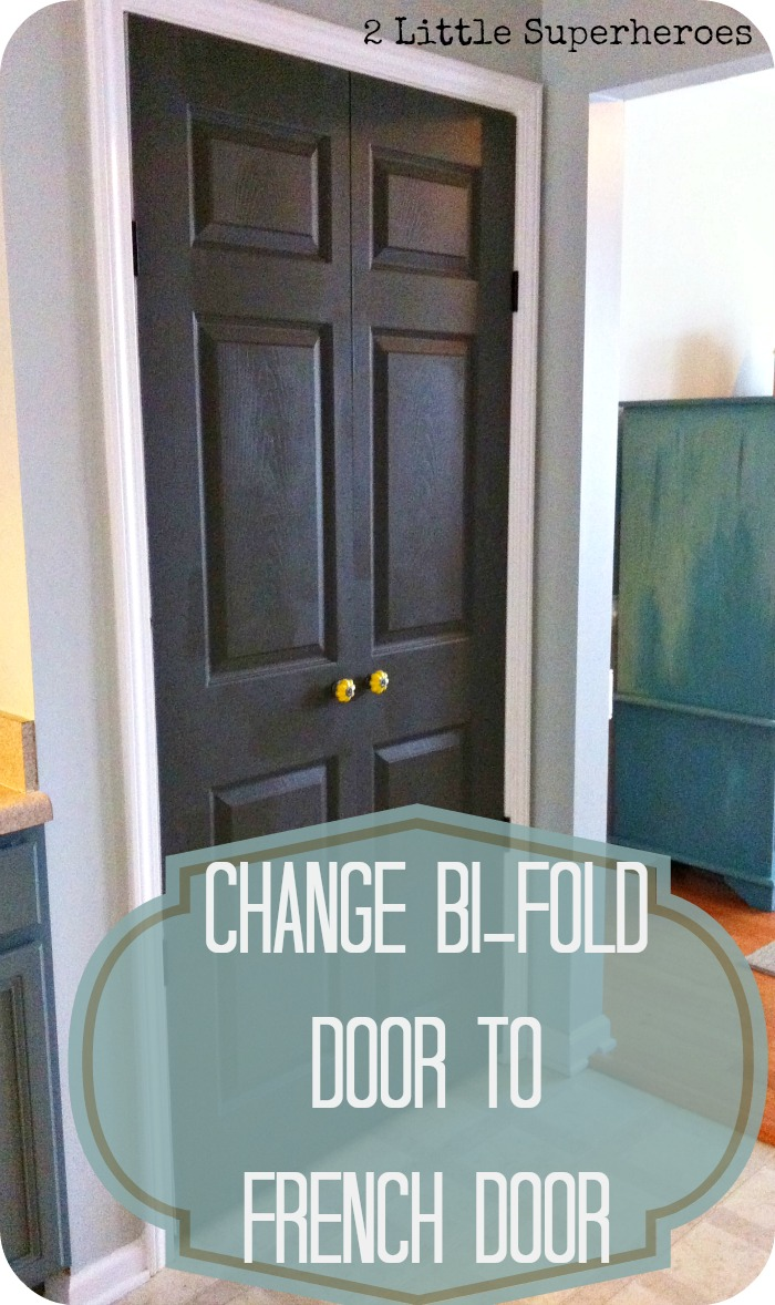 how to change bifold door to french door