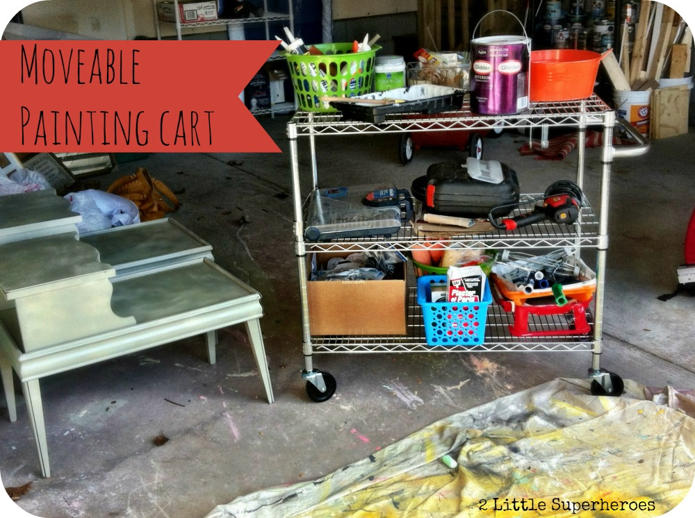 moveablepaintingcart Storing My Substancial Paint Stockpile