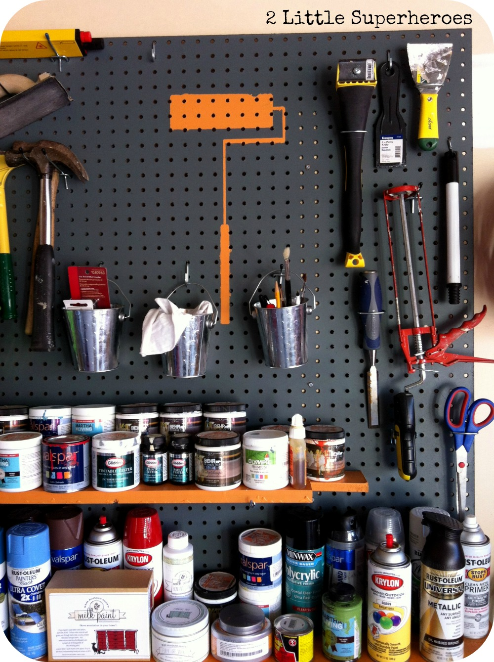 storing my substancial paint stockpile 2 little