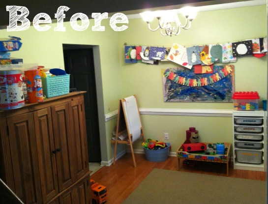 Dinning Room Turned Playroom 2 Little Supeheroes2 Little Supeheroes