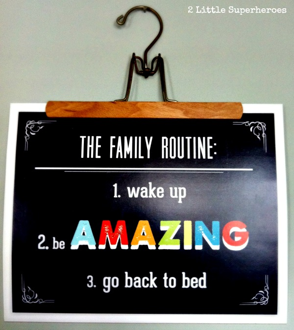 family routine poster Dinning Room Turned Playroom
