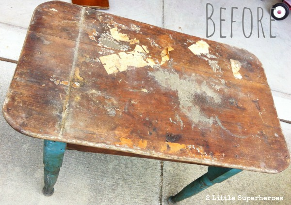 thrift-store-table-makeover-@2littlesuperheroes