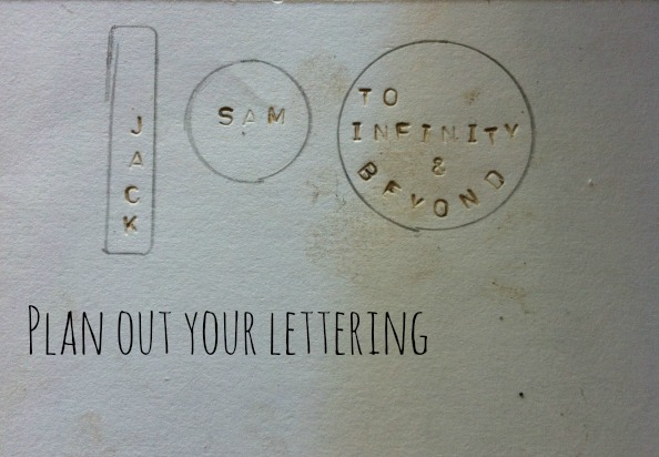 plan out your lettering Hosting A Hand Stamped Jewelry Craft Night