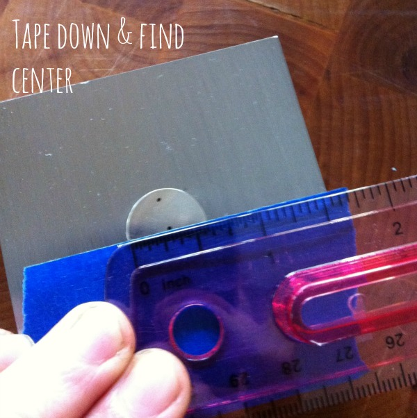 tape down find center Hosting A Hand Stamped Jewelry Craft Night