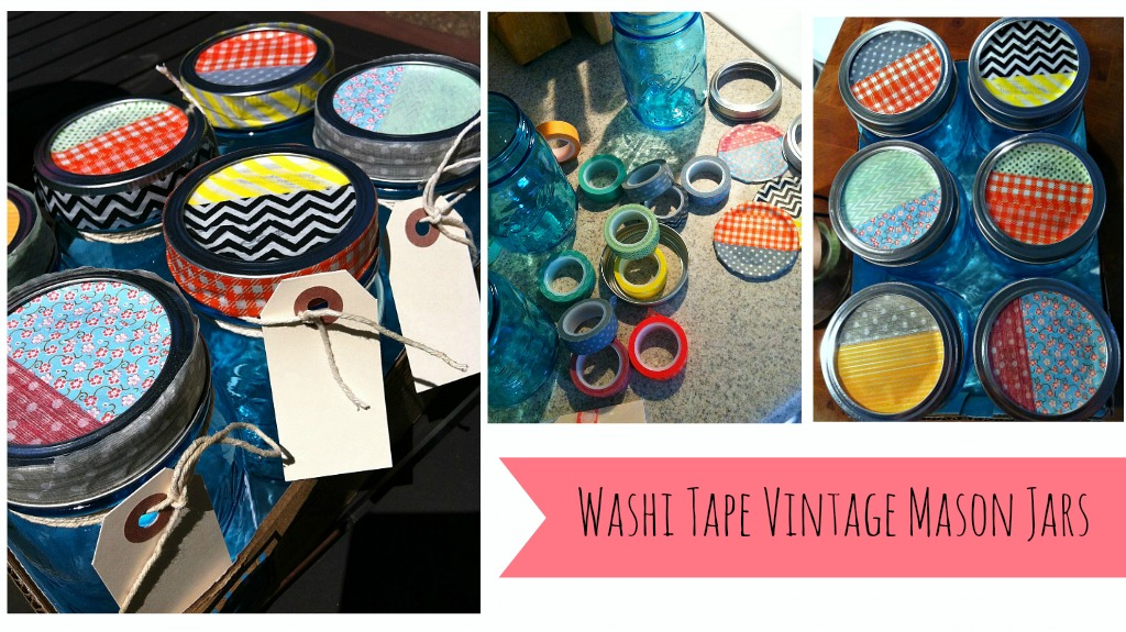 washi tape vintage mason jars Washi Tape Vintage Mason Jars