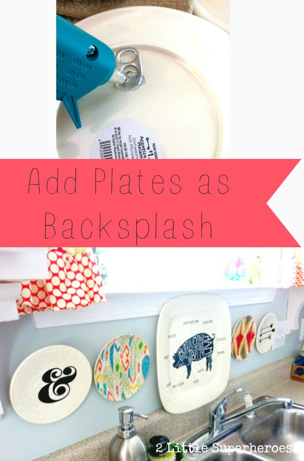 add plates backsplash Plastic Plate Backsplash
