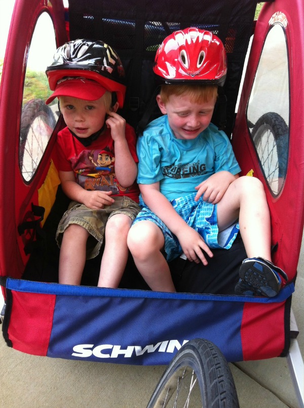 bike trailer Poolside with Huggies Little Swimmers & Smores
