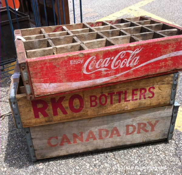 coke crates Sunday at the Raleigh Flea Market