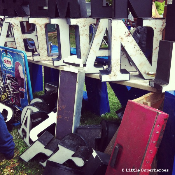 vintage letters Sunday at the Raleigh Flea Market