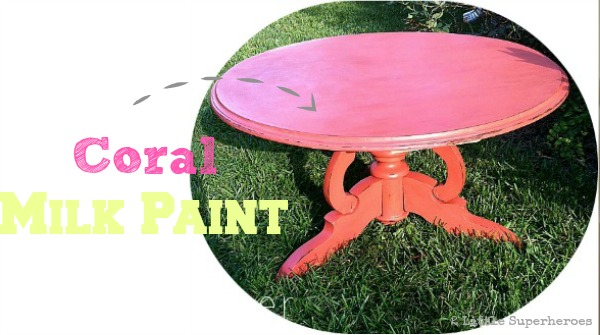 coral milk paint header Coral Coffee Table Using Milk Paint