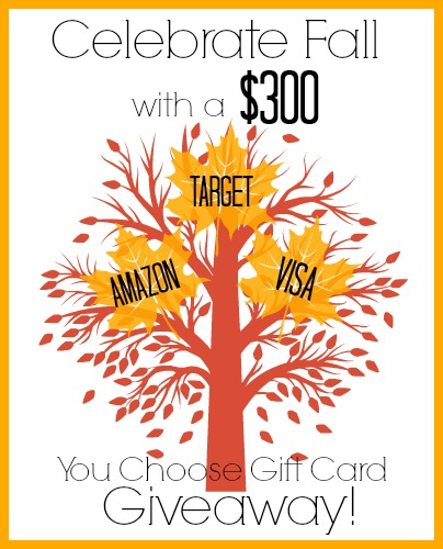 Celebrate Fall 300 Giveaway Graphic Lets Celebrate Fall with a $300 Gift Card