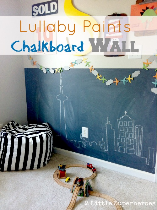 baby safe paint Lullaby Paints Chalkboard Wall