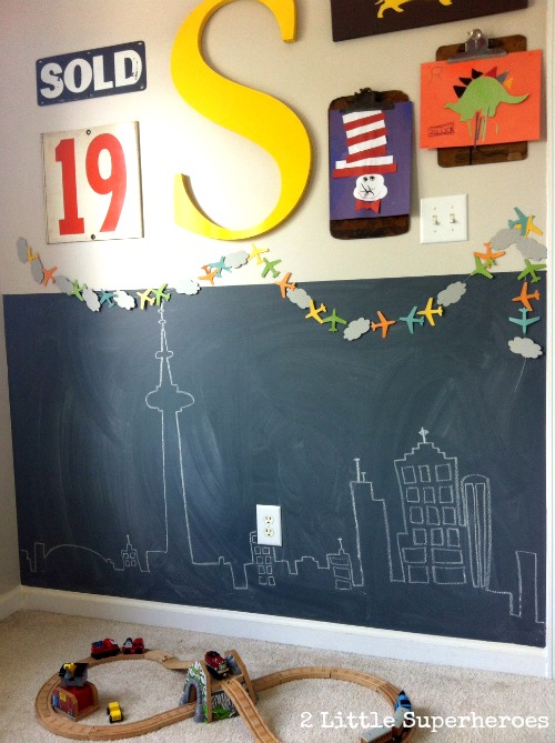 Bedroom Half Chalkboard Wall