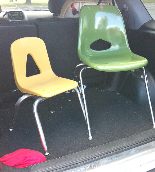 molded chairs Vintage School Furniture Warehouse {Kinston NC}