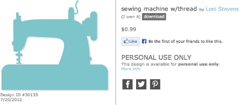 sewing machine silhouette cameo Sewing Room Pegboard Wall