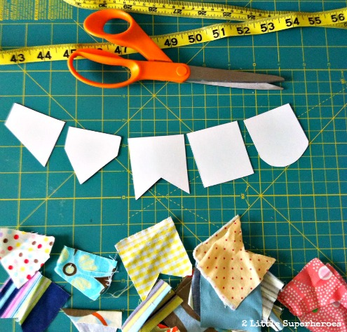 how to make fabric bunting Mini Fabric Bunting