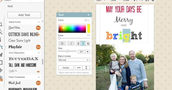 picmonkey tutorial DIY Christmas Cards for a Penny!