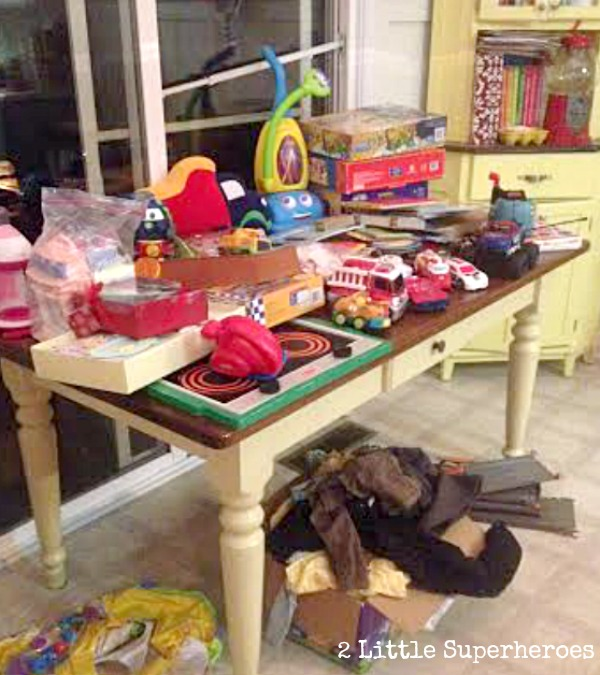 decluttering kids toys Christmas Toy Decluttering Party