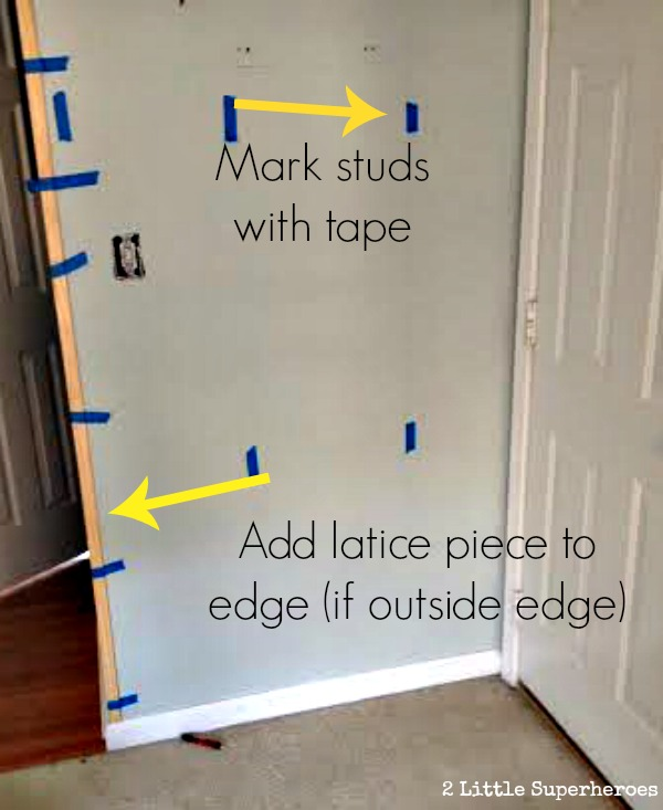 plank wall with outside edge DIY Wood Plank Wall Hallway {Part 2}