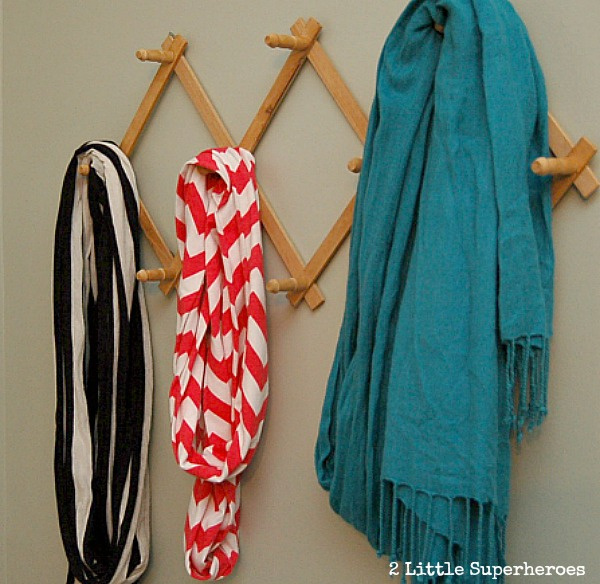 scarfs Bathroom Organization Ideas